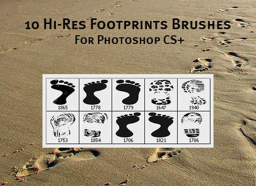 Hi resolution foorprint brushes