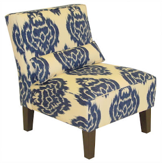Urban Outfitters Indigo Ikat Slipper Chair Copycatchic