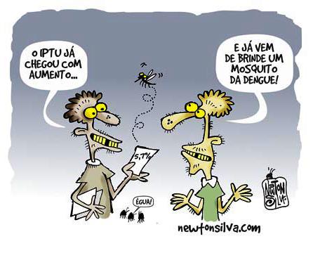 E ja vem de brinde um mosquito da dengue