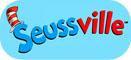 Seussville logo on blue background