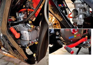 Modifikasi Supra X 125 Drag Style