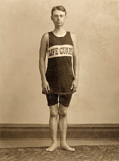 life guard, probably around 1900-1910.