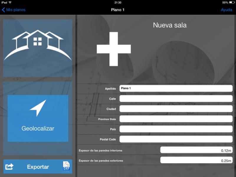 Apps de Construcción | Pantalla de datos de nueva estancia de MagicPlan
