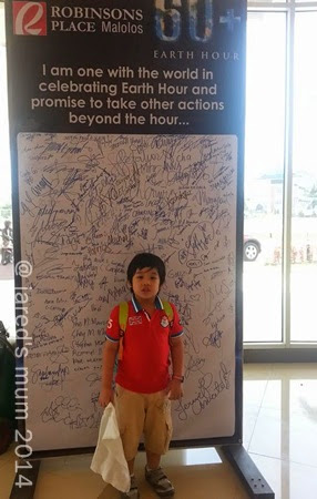 earth hour, toddler for a cause, out + about