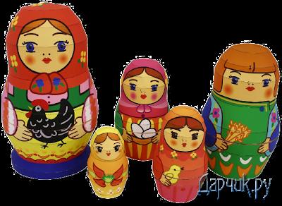 Матрешки на www.darchik.ru