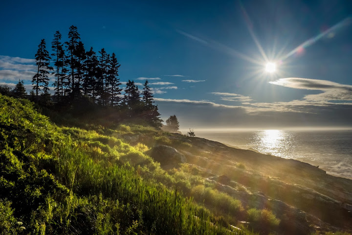 Sunrise On The Coast Of The Pine Tree State. Pemaquid Point, Maine