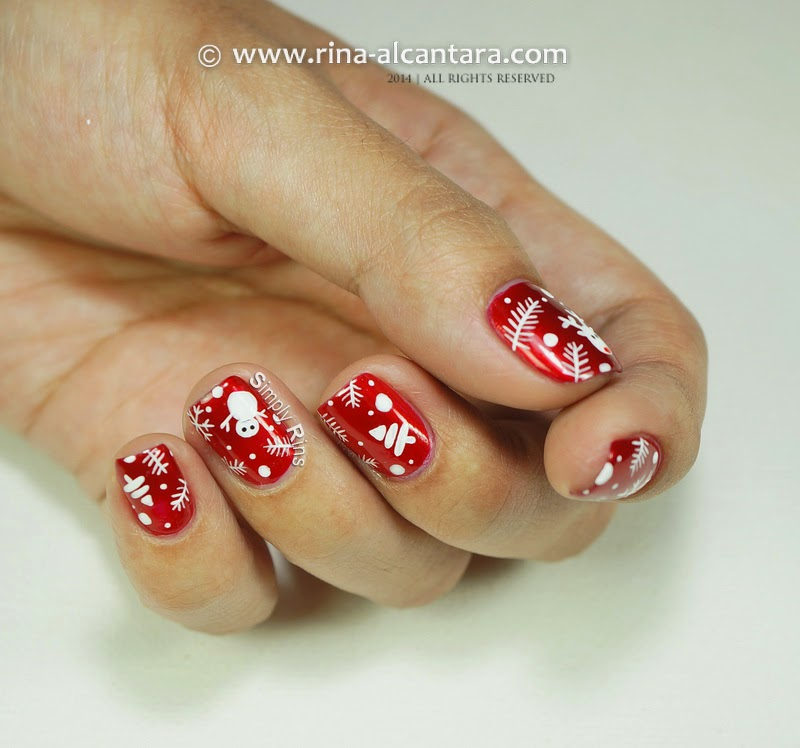 Christmas Wrapper Nail Art