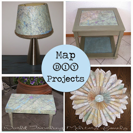 Map DIY Projects | World Traveling Military Family