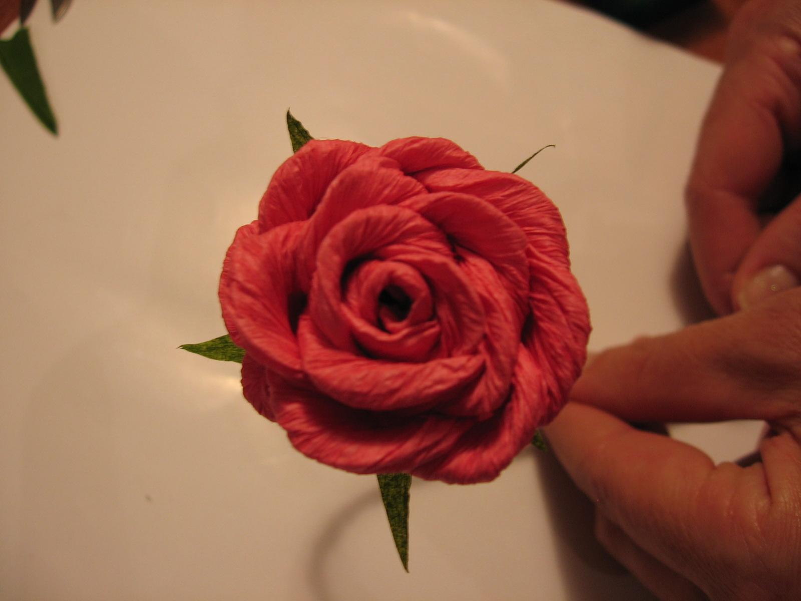 Célèbre Dalla A allo Zucchero: Fiori di Carta Crespa: Rosa (piega a caramella) QY41