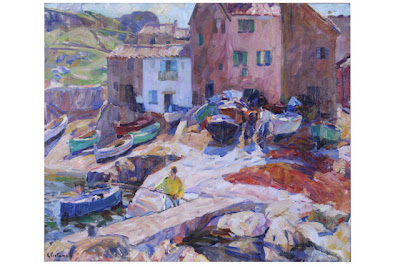 Vieux Port, St. Tropez, Euphemia Charlton Fortune (1885-1969), oil on canvas, City of Monterey de Haven/Jacks Collection.
