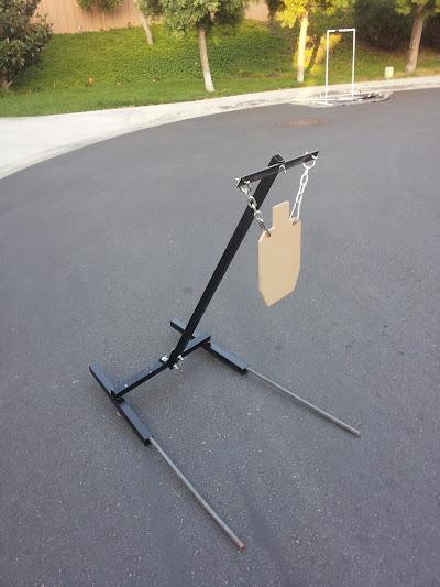 Homemade AR500 target stand. - Calguns.net