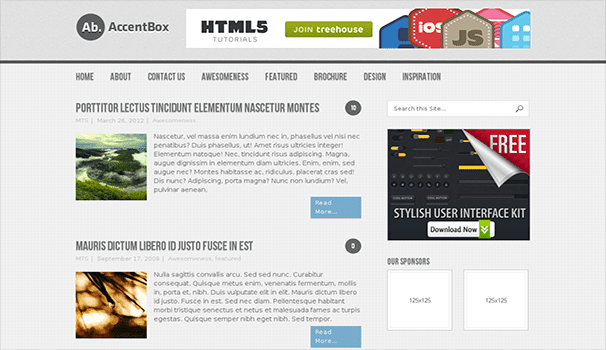 AccentBox wordpress themes