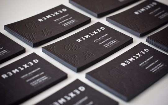 Business Card Design: R3M1X3D - Business Card Design