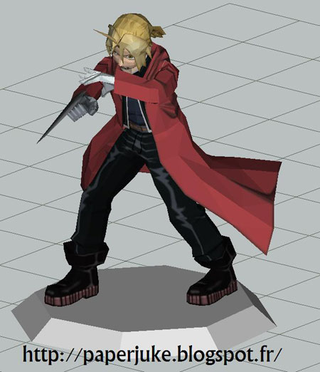 Edward Elric Paper Model
