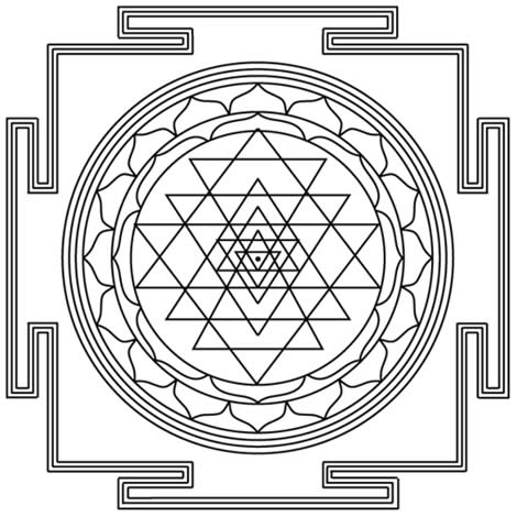 Occult Symbol The Shri Yantra Image