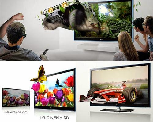 Pengalaman 3D dengan LG Cinema 3D Smart TV diruang tamu