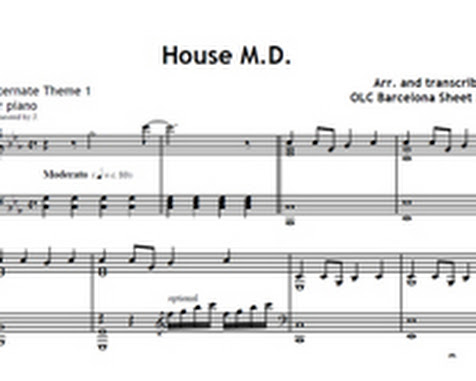 House md theme music my sheet music transcriptions for House md music