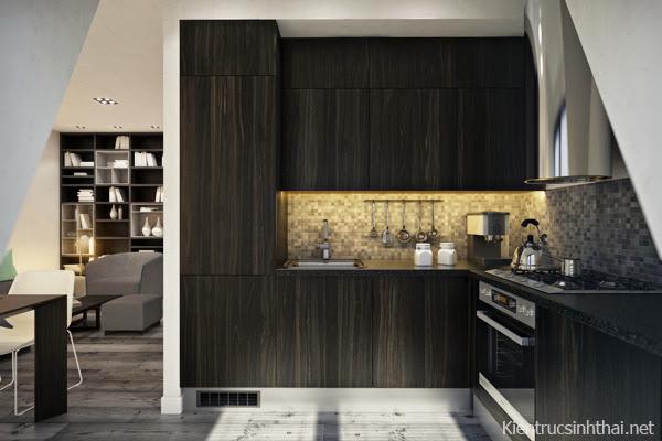 Phòng bếp căn hộ hiện đại