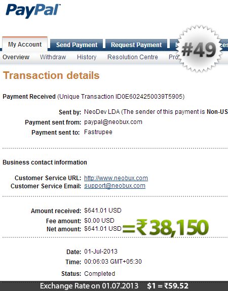 Neobux Payment Proof 49