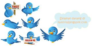 Burung Twitter Terbang,twitter,tweet,burung,jejaring sosial,sosial network,cara memasang burung twitter terbang,bird,twitter flying bird