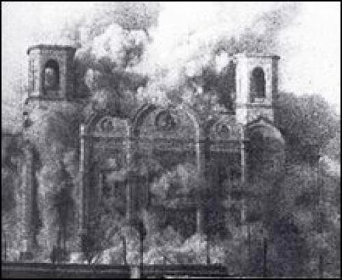 Bolsheviks Raze Orthodox Church To The Ground