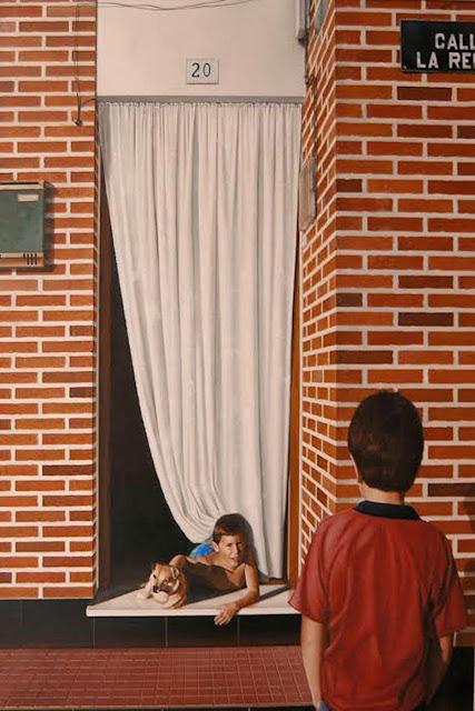 Mario y el Rinti,retrato al óleo del pintor Manjarrés