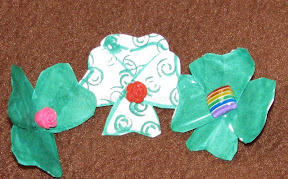 Lost stud earring shamrocks/clovers