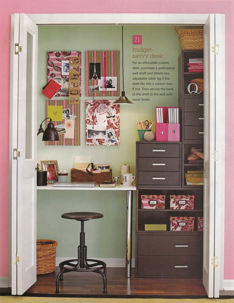turn a closet into an office