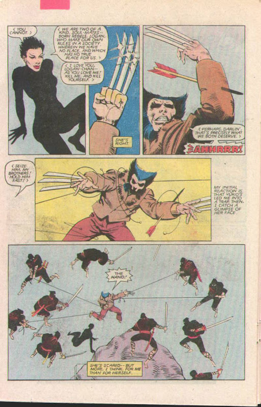 Chris Claremont & Frank Miller's The Wolverine Volume 1 Comic 3 Ninja Fight