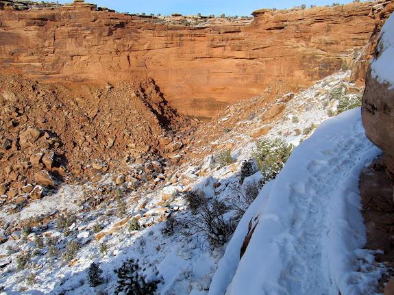 Snowy ledge