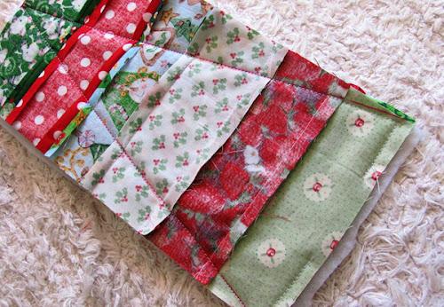 costurando tecidos patchowrk