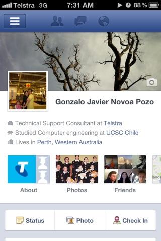 """Facebook para iPhone ahora soporta """"Timeline"""""""