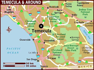 Map of Temecula and Around