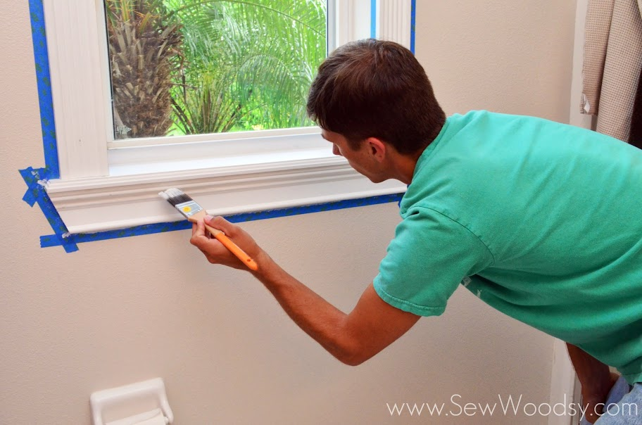 Painting & Patching Moulding Tips from SewWoodsy.com