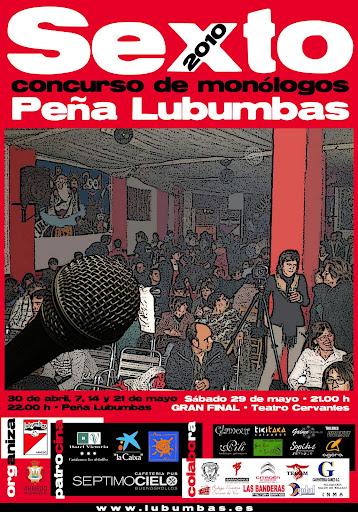Cartel de la VI Edición del Concurso de Monólogos de la Peña Lubumbas