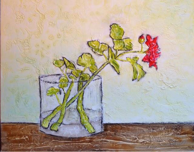 painting artist Robin Baratta, geranium