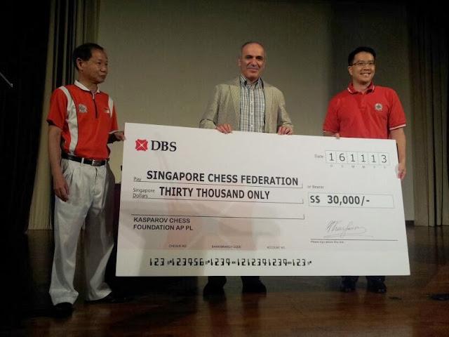 Presenting Cheque