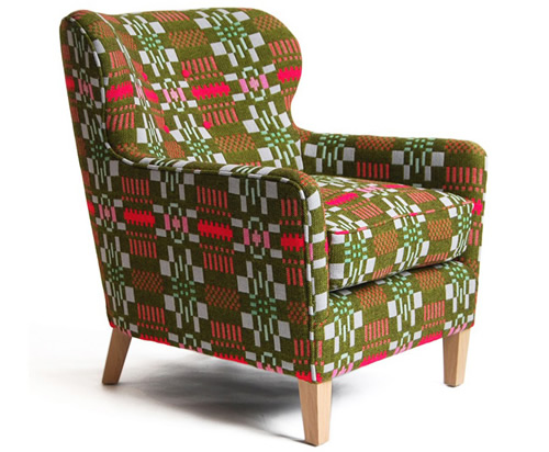 Home furnishings:Eadie-eco-green-armchair-by-Donna-Wilson