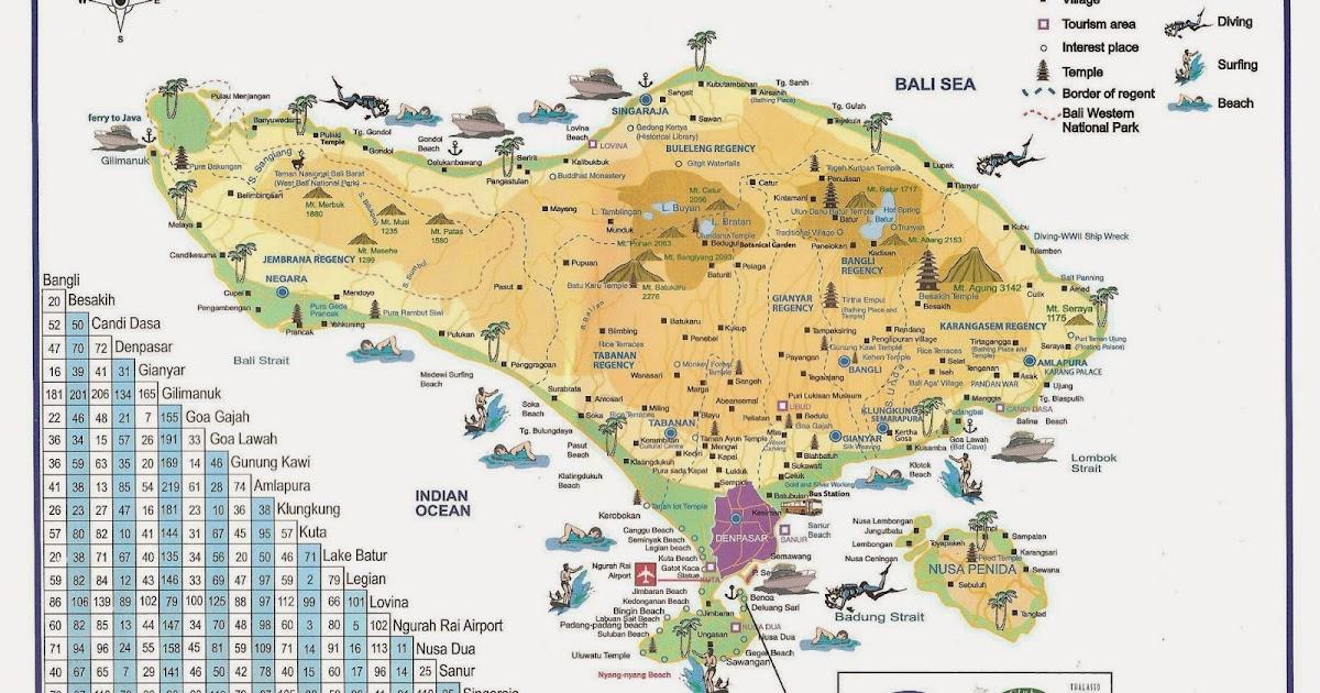 Peta Wisata Bali | agen wisata bali