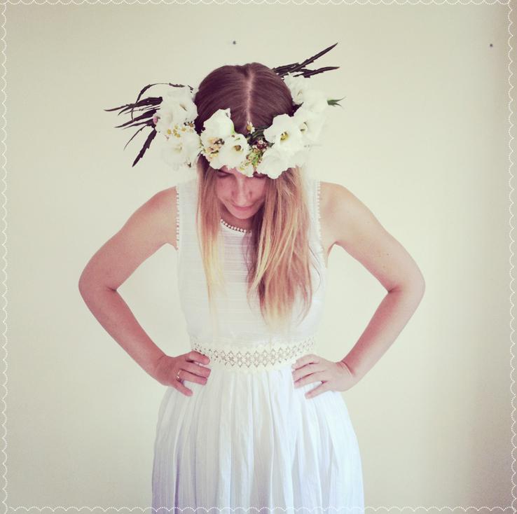 Bride dress flowers crown Венок невесты