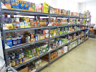 The shelves are fully stocked and ready to go.