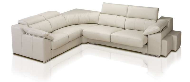 Comprar sof de piel de cuero modelo madrid for Sofa rinconera piel