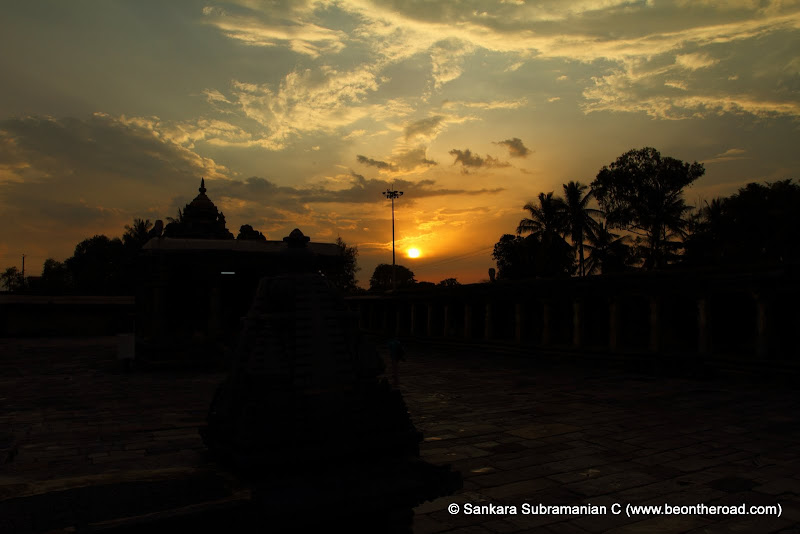 Sunset at Channakeshava Temple, Belur