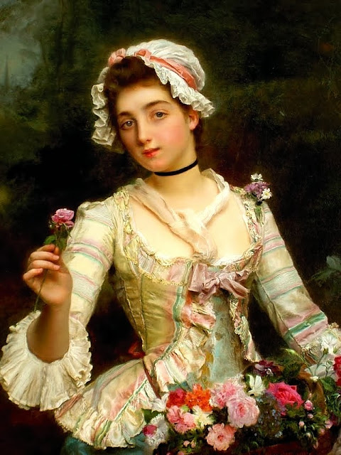 Gustave Jean Jacquet - Young woman with flowers