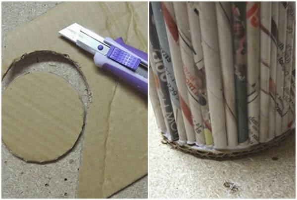 Colar base de papelão