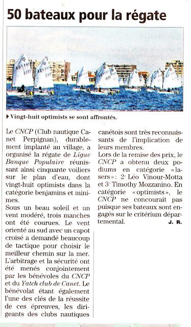 régate voile Canet_en_Roussillon optimist dériveurs