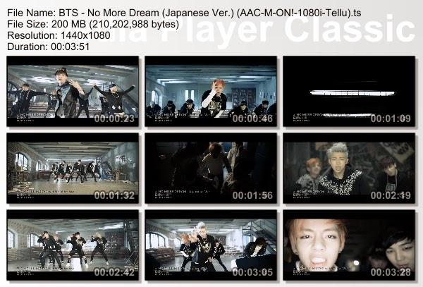 bts no more dream live 1080p