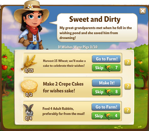 FarmVille 2 Guide If Wishes were Pigs Quest