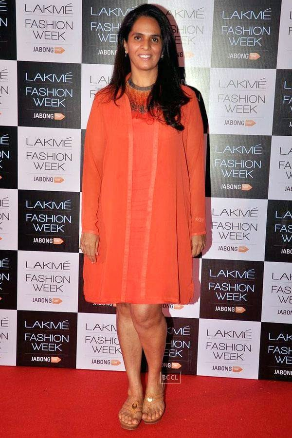 Fashion designer Anita Dongre during Lakme Fashion Week curtain-raiser, held in Mumbai, on July 28, 2014. (Pic: Viral Bhayani)