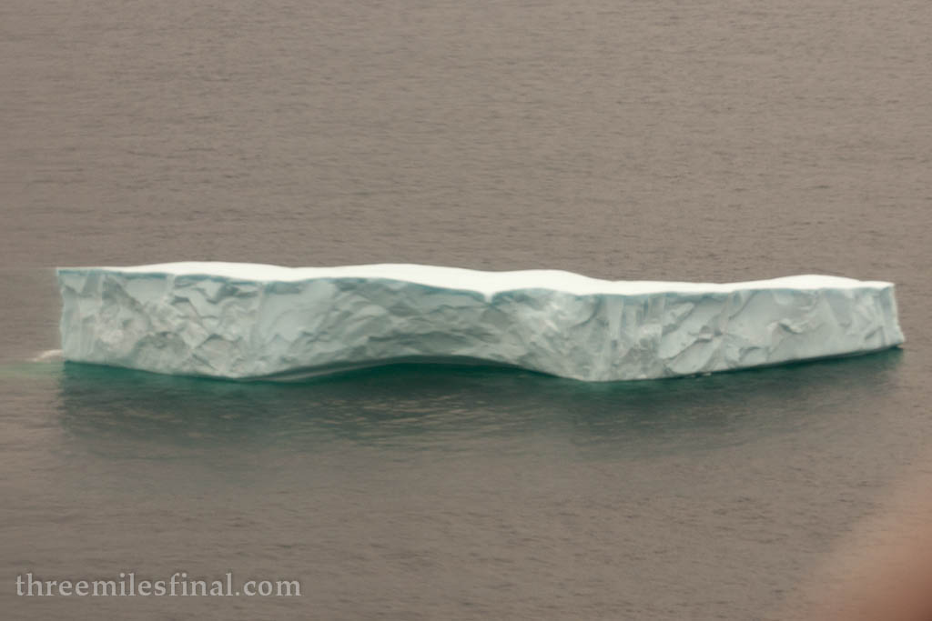Icebergs can still be spotted! They're only more frequent from now on.